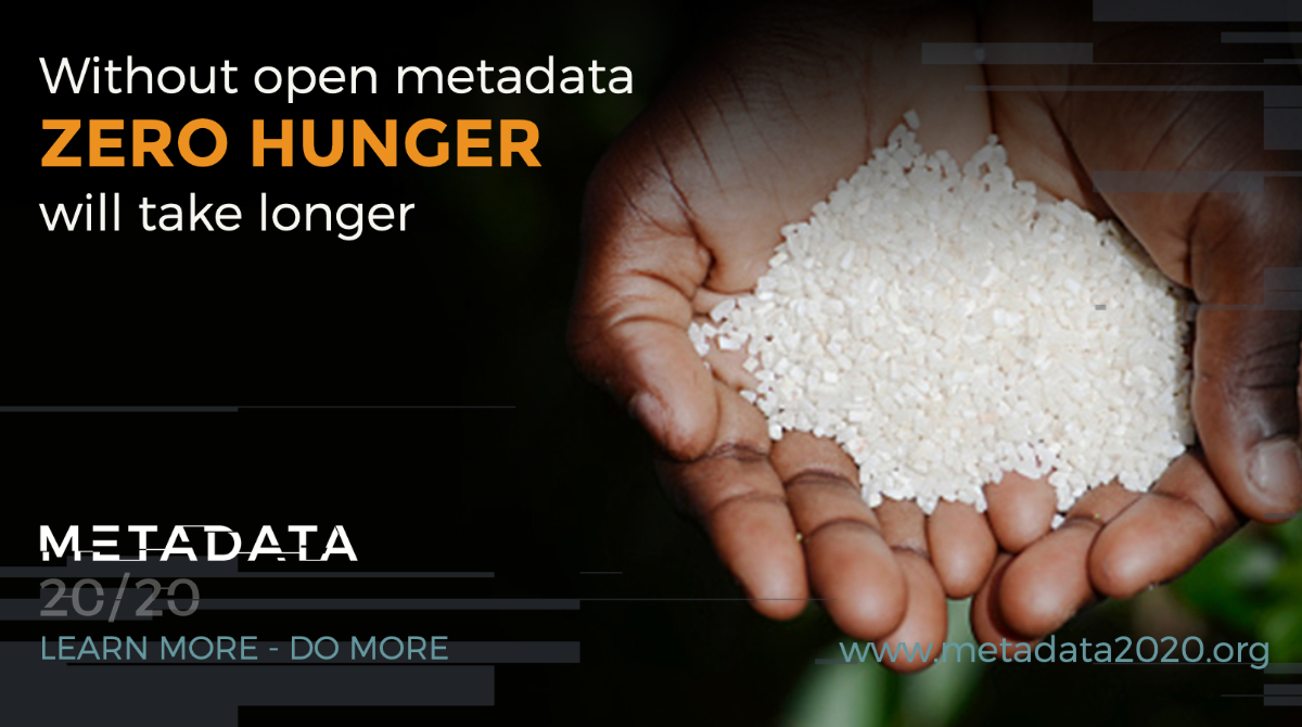 Without open metadata ZERO HUNGER will take longer.