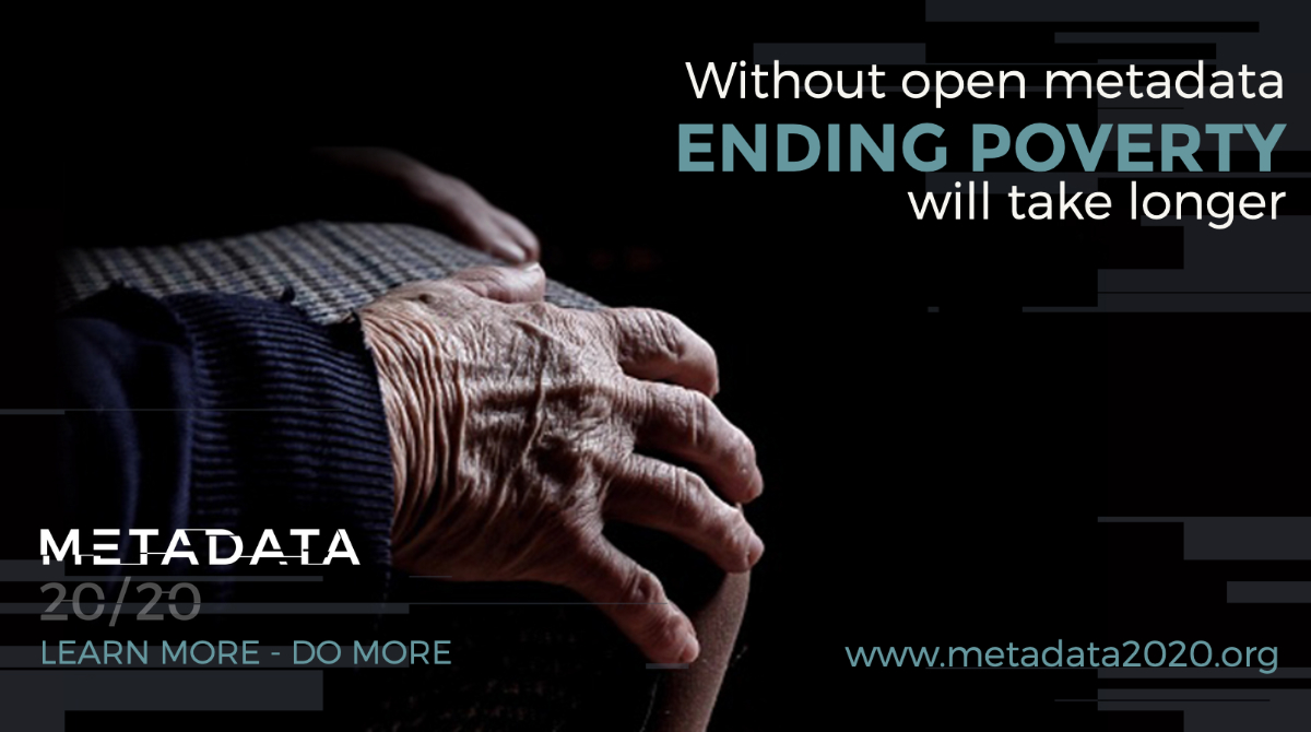 Without open metadata ENDING POVERTY will take longer.