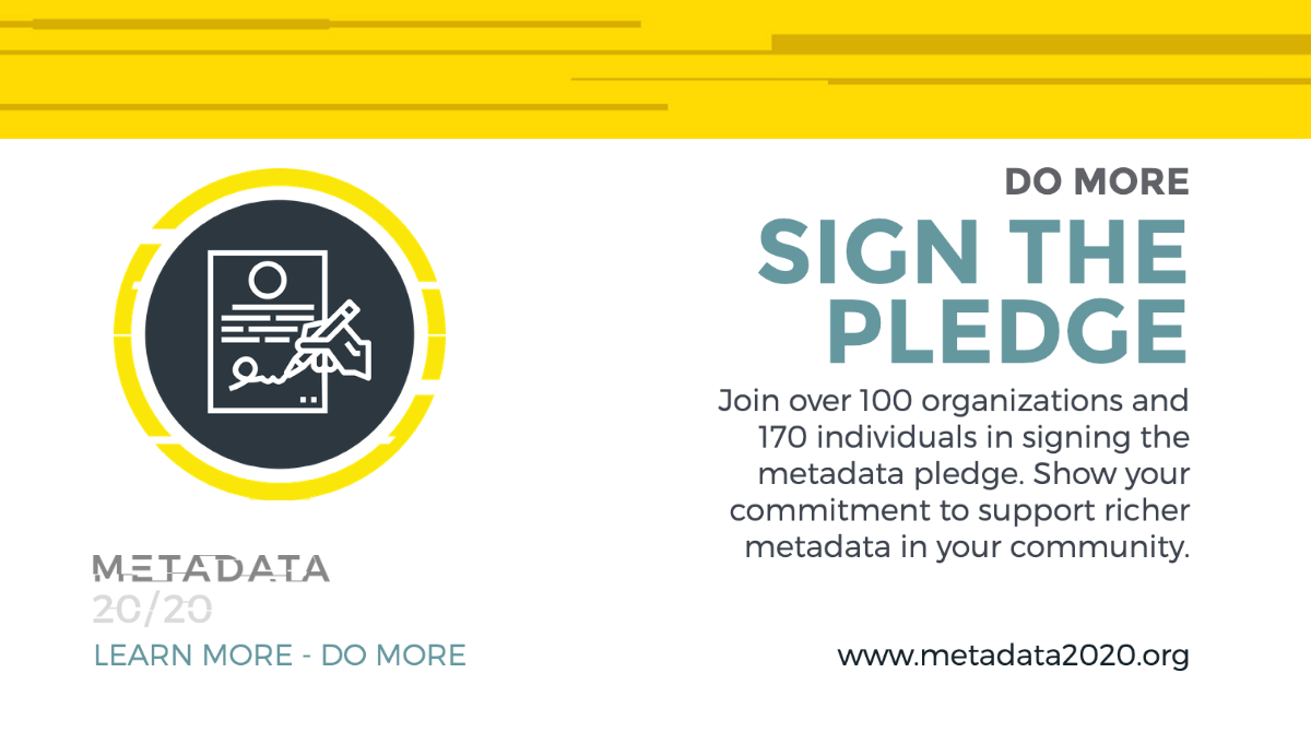 Sign the Metadata Pledge!