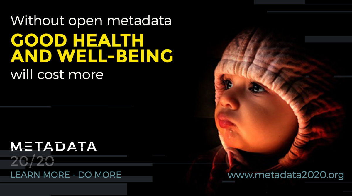 Without open metadata GOOD HELATH AND WELL-BEING will cost more.